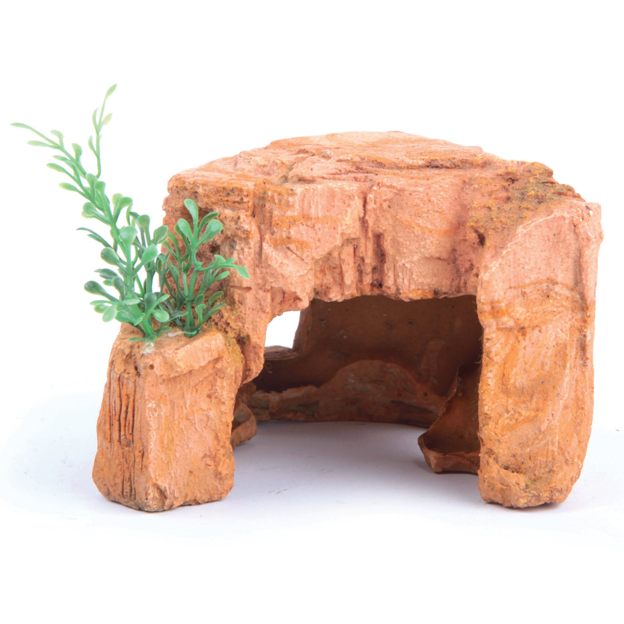 Sandstone Rock With Plant – Mini