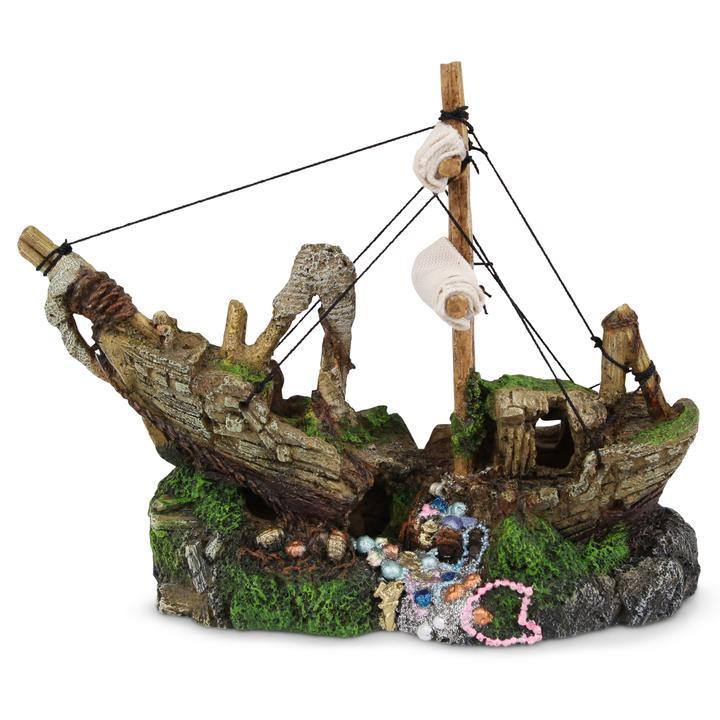 Shipwreck With Treasure & Sail – Small