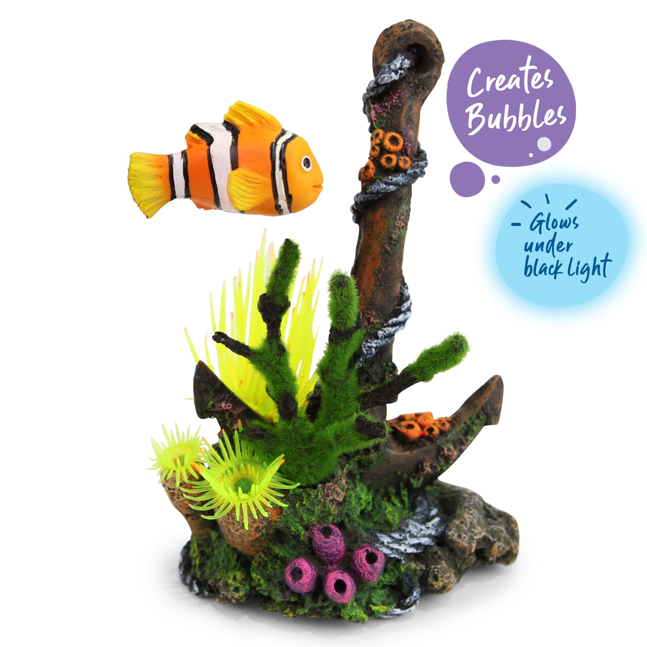 Bubbling Anchor With Floating Fish – Medium