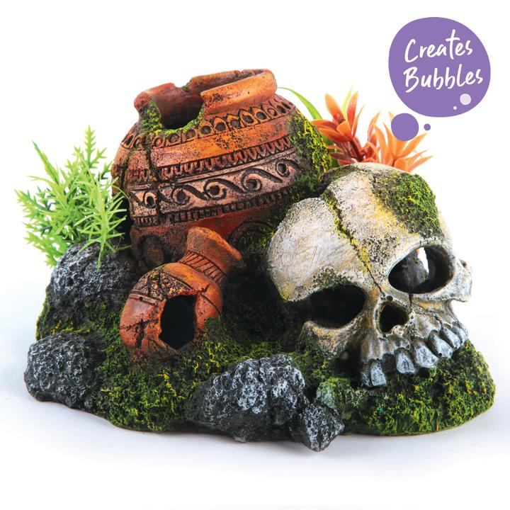 Bubbling Skull With Plants