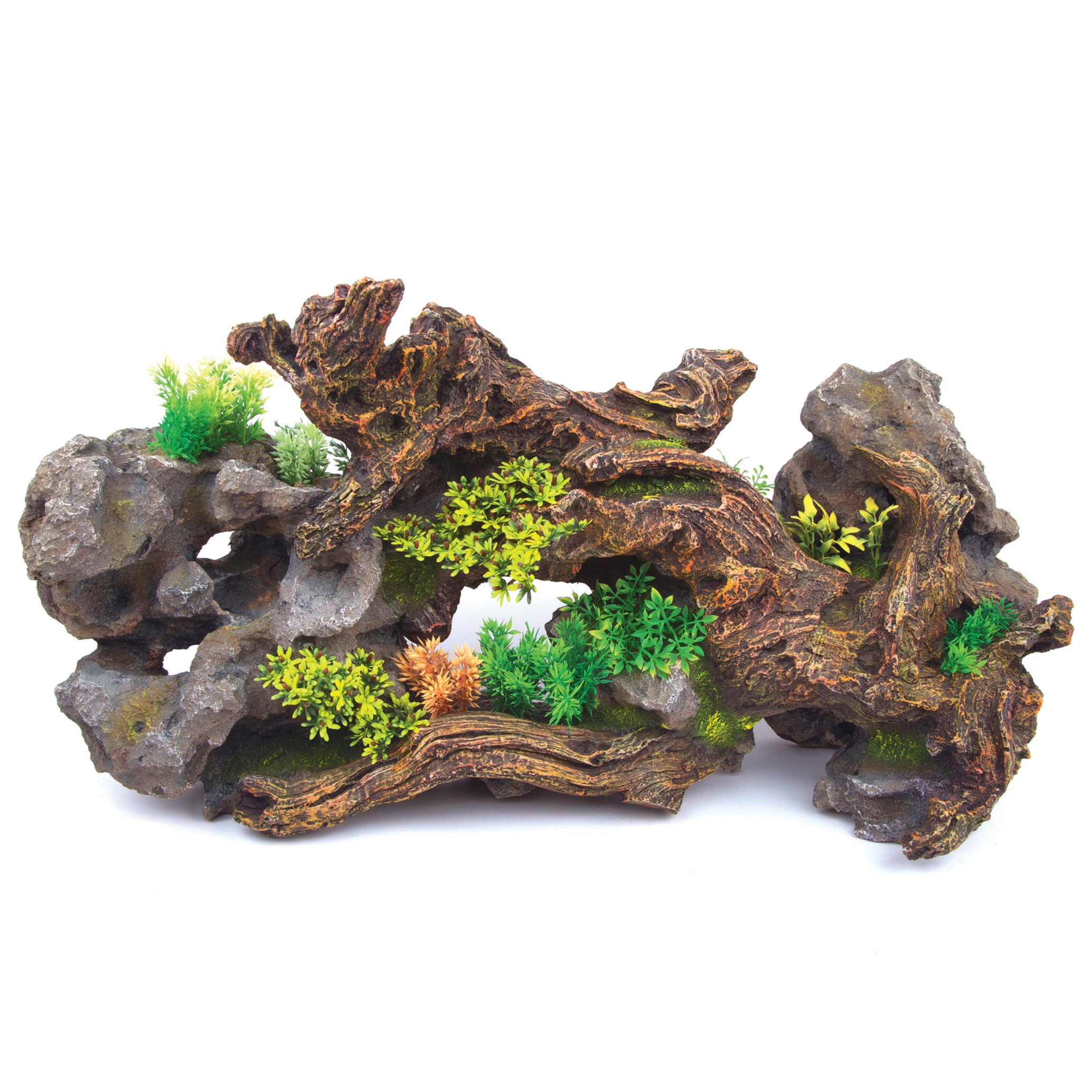Driftwood With Rock & Plants – Centrepiece