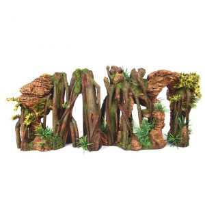 Jungle Root With Rock & Plants