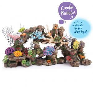 Bubbling Giant Coral Reef With Plants – X Large