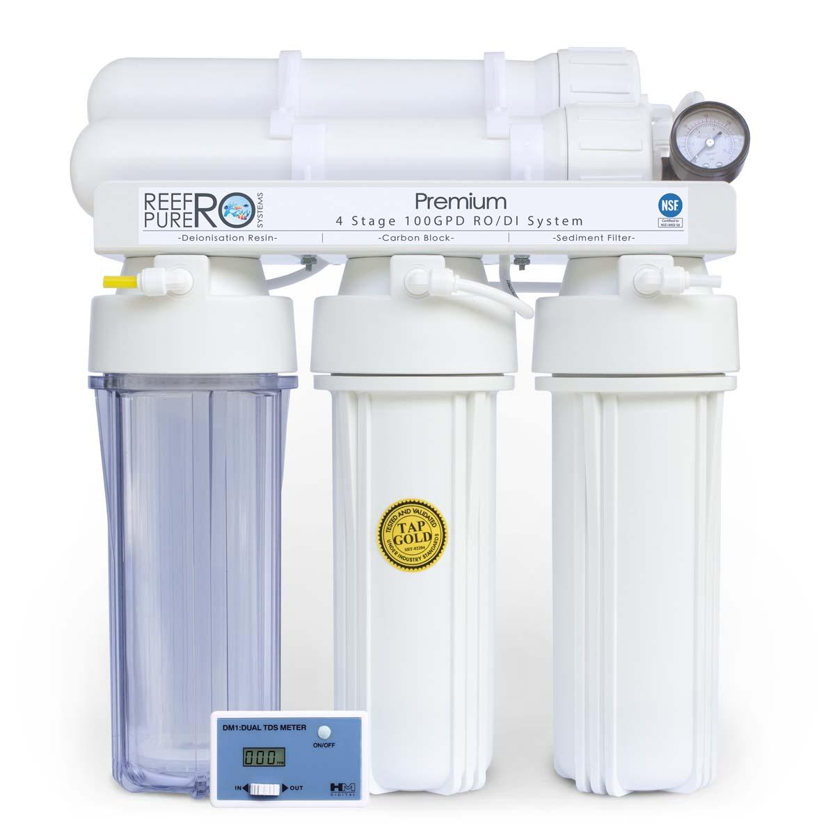4 Stage 100GPD Premium RO/DI System