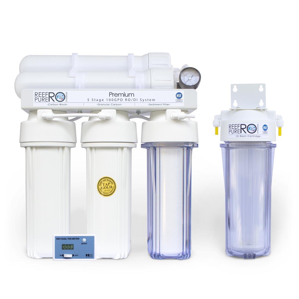 5 Stage 100GPD Premium RO/DI System
