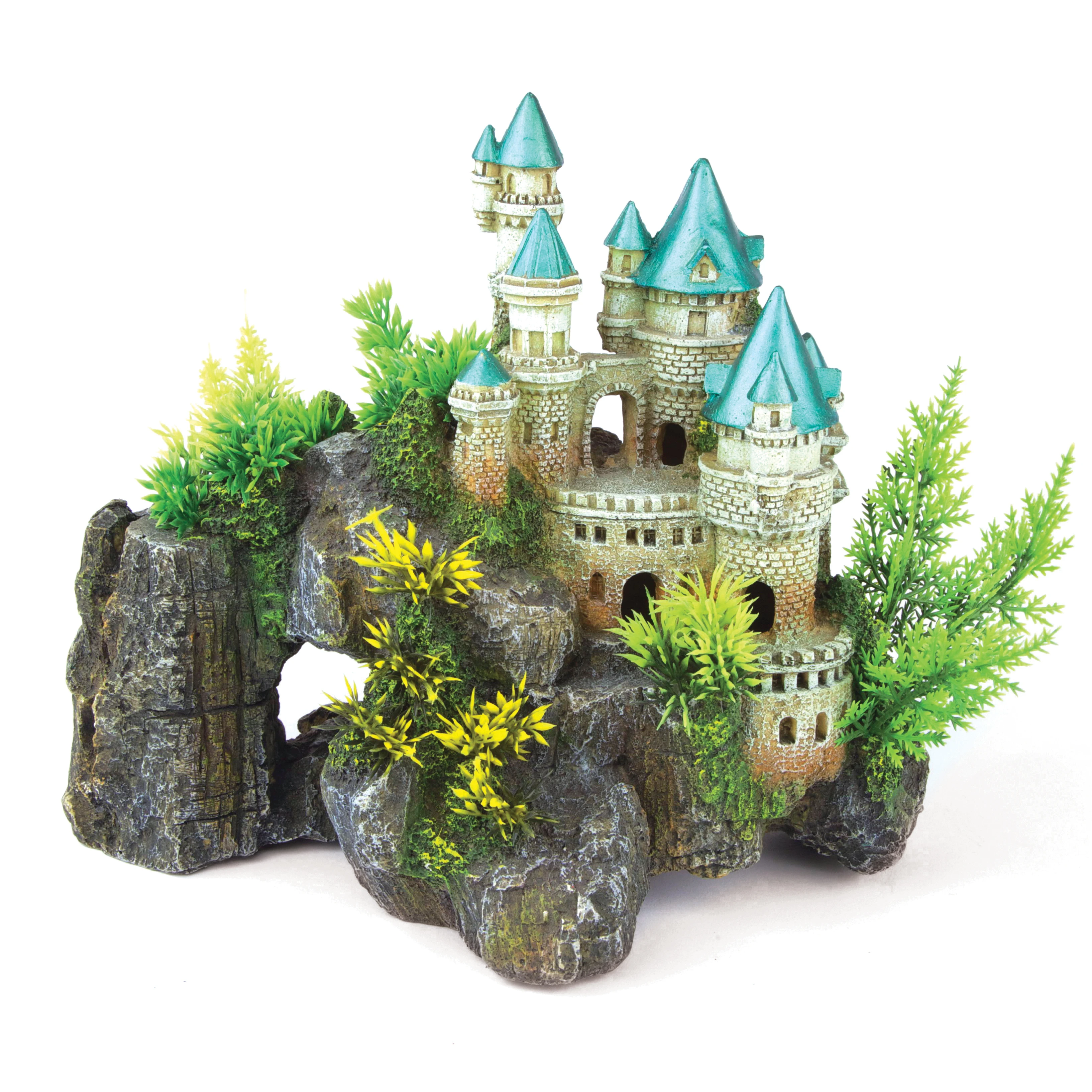 Mountain Castle with Plants