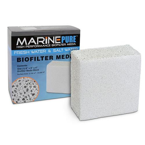 "Marine Pure Bio Filter Media 8x8x4"" Block"